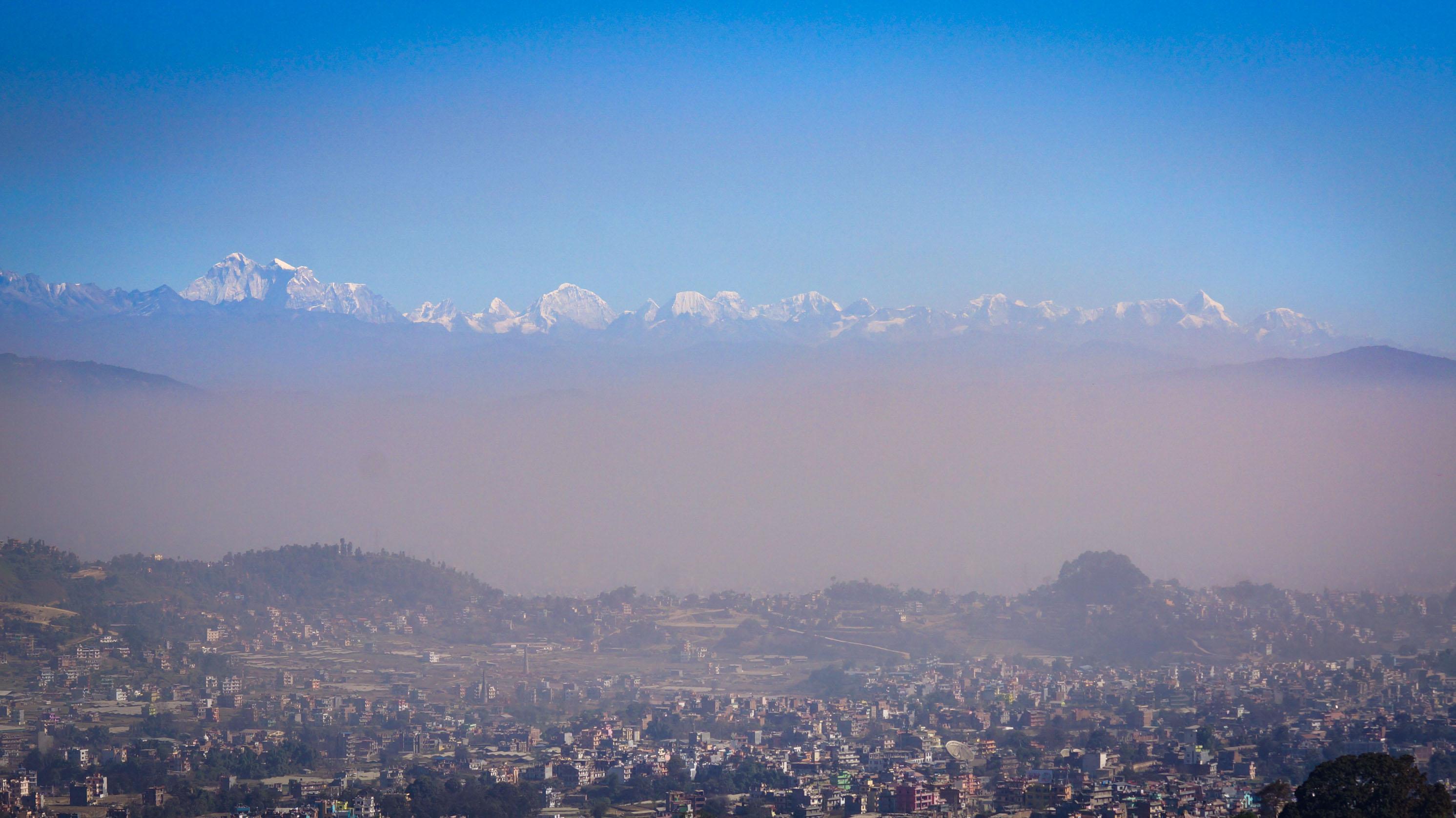 Staub über Kathmandu.