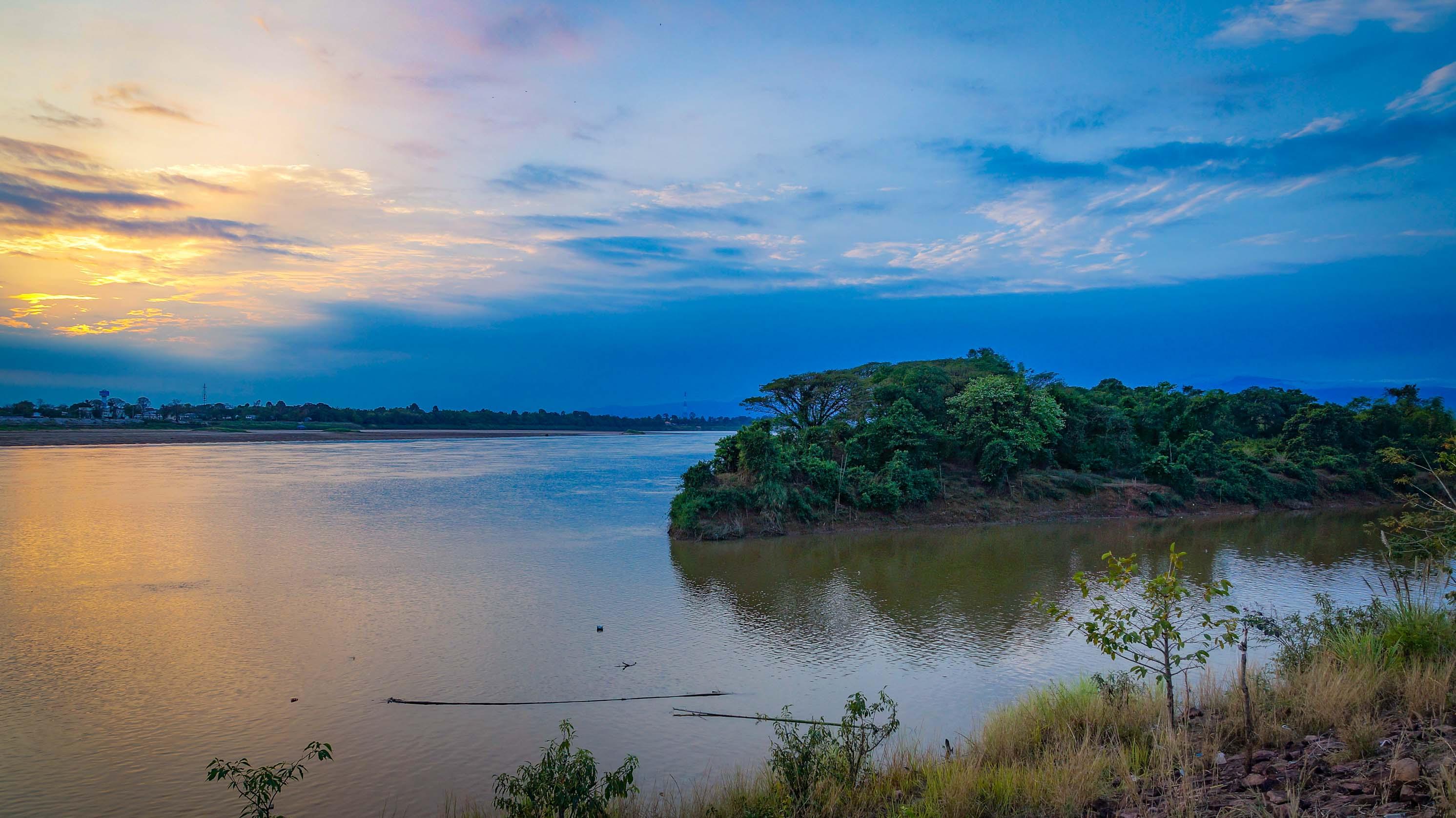 An den Ufern des Mekong.